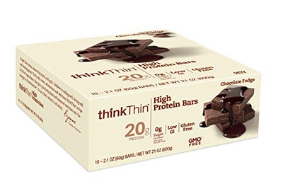 thinkThin High Protein Bars in Chocolate Fudge (10 Bars)