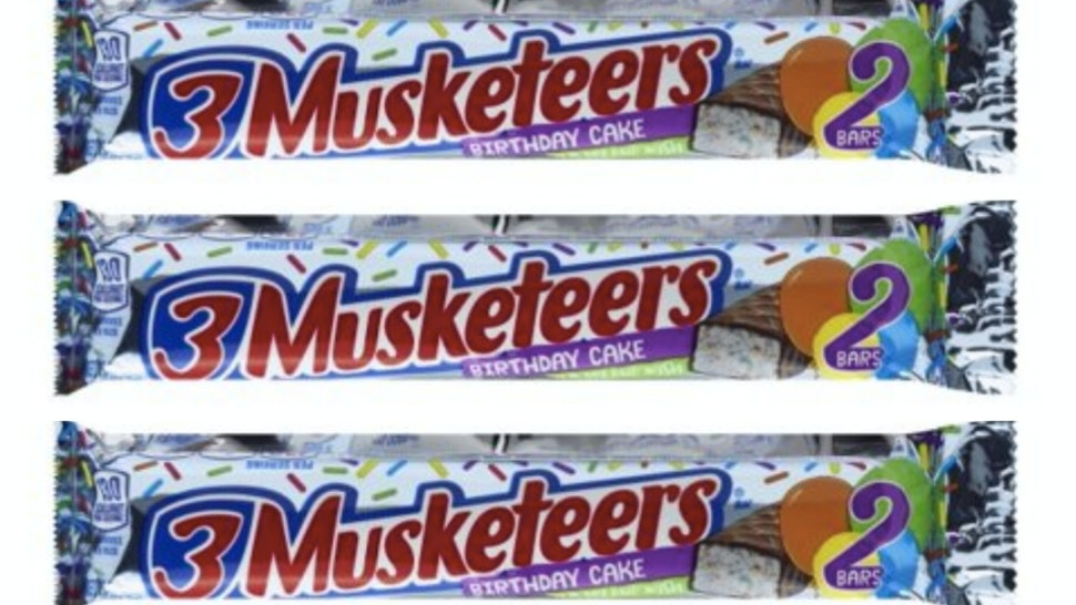 Peachy 3 Musketeers Birthday Cake Bars Just Hit Walmart Its A Rainbow Funny Birthday Cards Online Alyptdamsfinfo