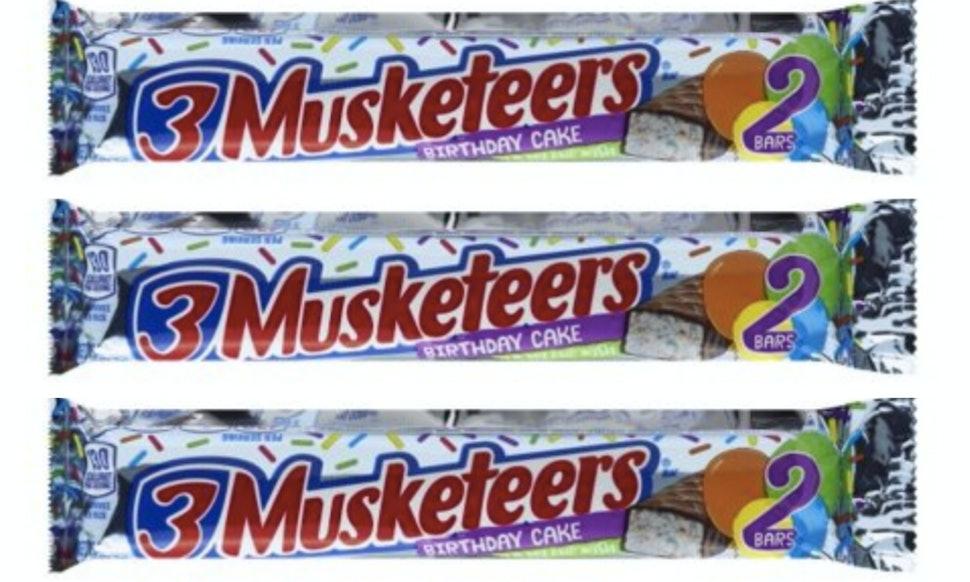 3 Musketeers Birthday Cake Bars Just Hit Walmart Its A Rainbow