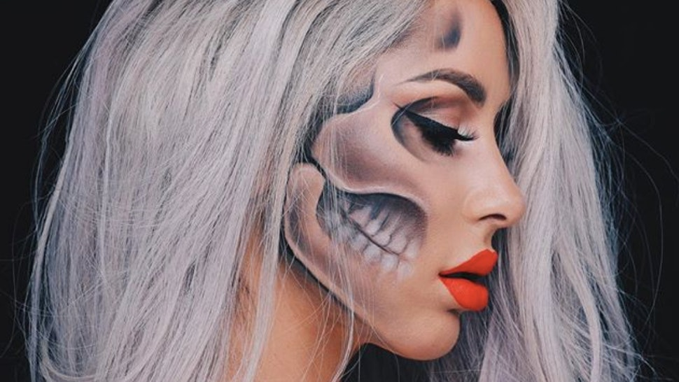 11 Easy Skull Makeup Tutorials for Halloween When You Just Want To Be Goth AF