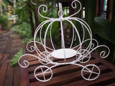 Cinderella Princess Pumpkin Carriage Plant Stand