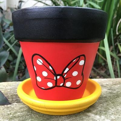 Minnie Mouse Bow Flower Pot