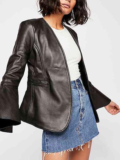 Studded Leather Belle Blazer