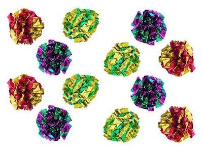 PETFAVORITES Original Mylar Crinkle Balls (12-Pack)