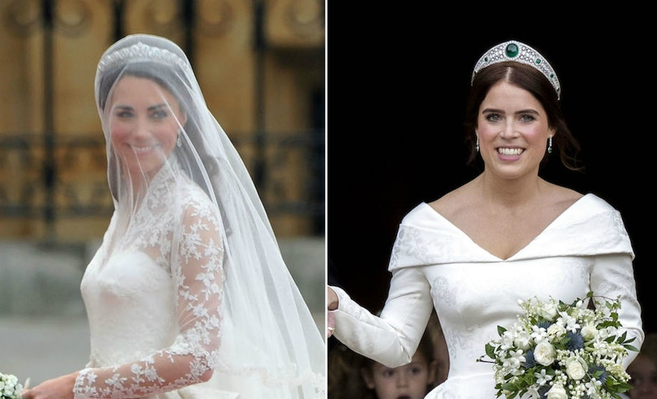 Photos Of Meghan Markles First Wedding Dress Prove She Admires Kate