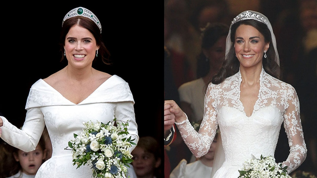 Princess Eugenie's Wedding Makeup Vs. Kate Middleton's Proves Bridal Glam Is All About The Eyes