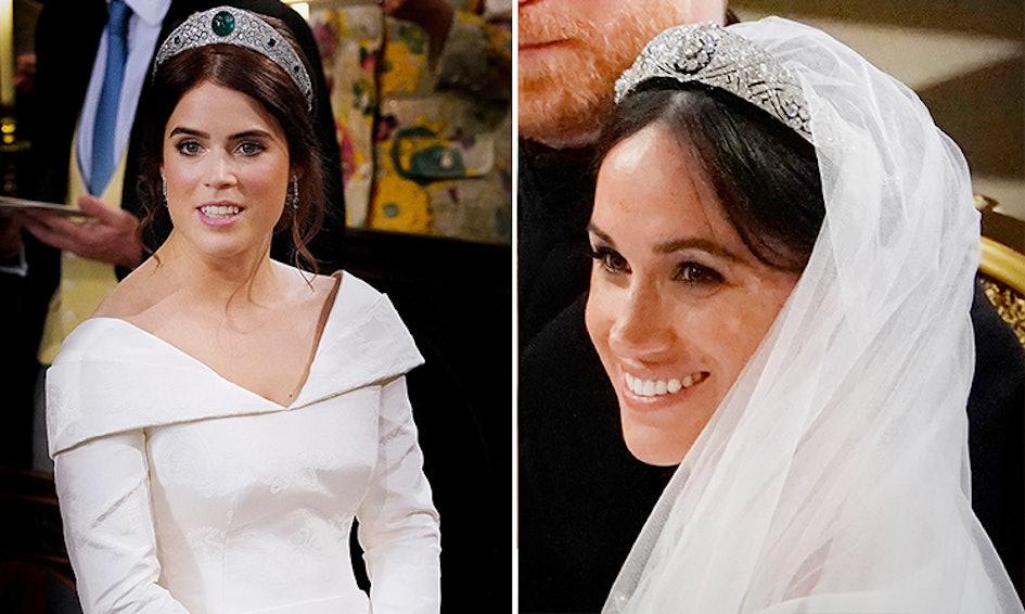 maquillage de mariage d'Eugénie comparé à celui de Meghan Markle