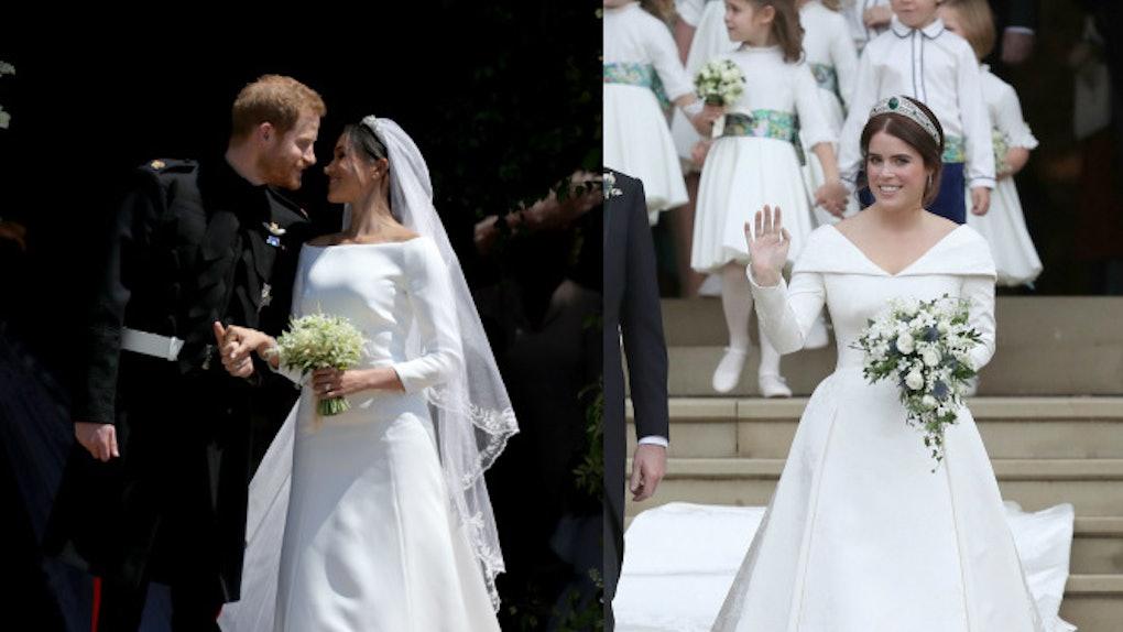 Meghan Markle Wedding Dresses.Princess Eugenie S Wedding Dress Vs Meghan Markle S The Details