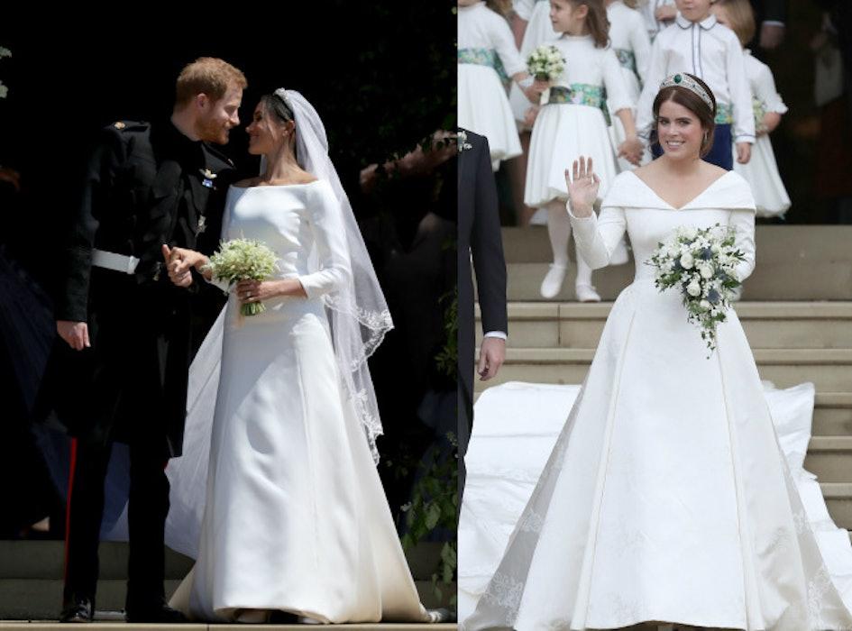 Robe de mariée de la princesse Eugénie contre celle de Meghan Markle