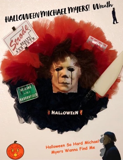 Michael Myers! Halloween Wreath