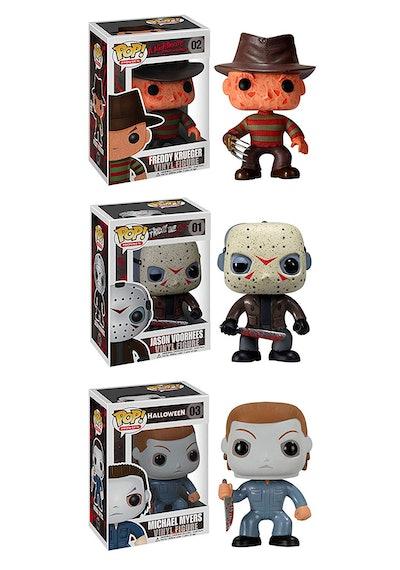 Funko Horror Classics POP! Movies Collectors Set: Freddy Krueger, Jason Voorhees, Michael Myers Acti...