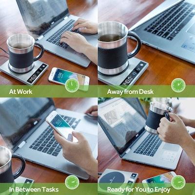 COSORI Premium 24Watt Stainless Steel Coffee Mug Warmer