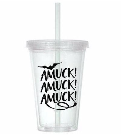 Amuck Amuck Amuck Hocus Pocus Witch Horror Tumbler Cup