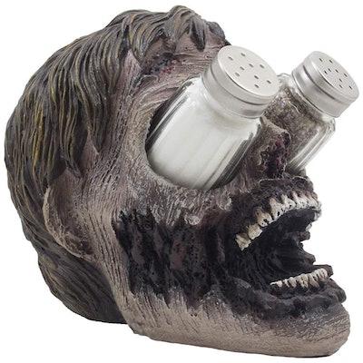 Evil Undead Zombie Head Glass Salt and Pepper Shaker Set