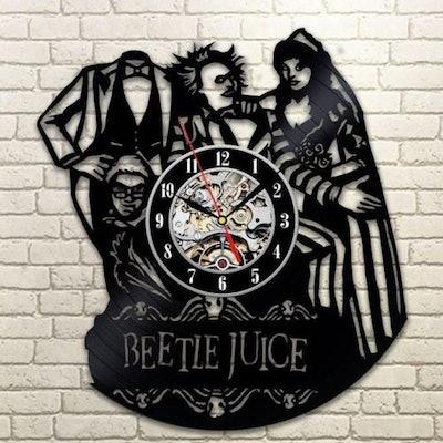 Beetlejuice Horror Movie Wall Clock