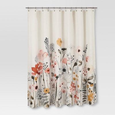 Floral Shower Curtain - Threshold