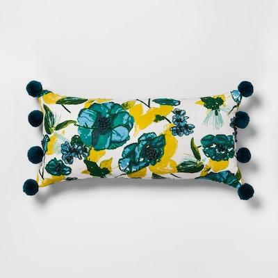 Lumbar Pillow Pom Floral - Opalhouse