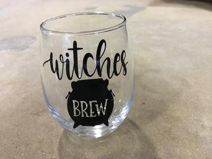 Witches Brew Wine Glass