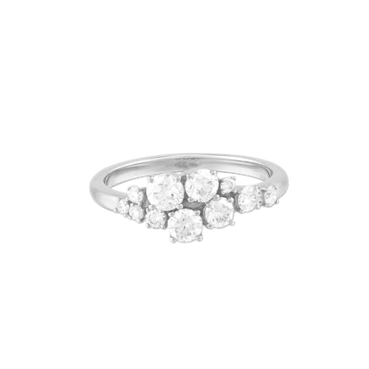 Diamonds Cluster Ring