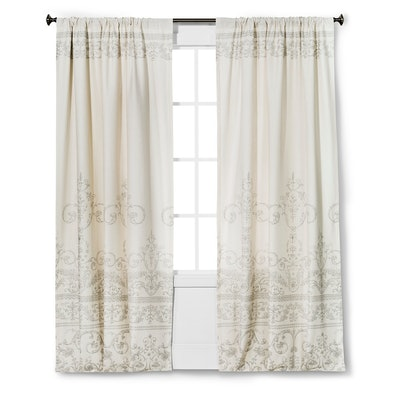 """Vintage Gate Curtain Panel Cream (55""""x95"""") - The Industrial Shop"""