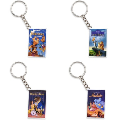 Disney Animated Feature Mystery VHS Keychain