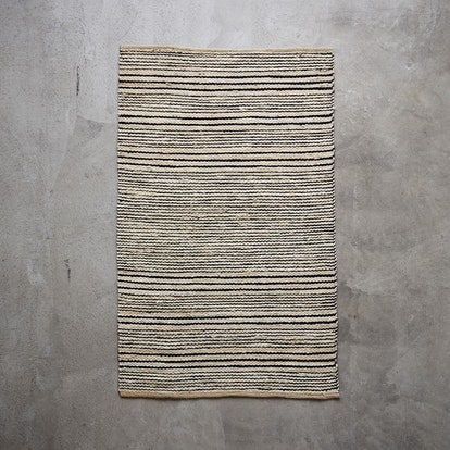 Variegated Stripe Jute Rug