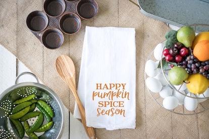 Happy Pumpkin Spice Season Kitchen Towel