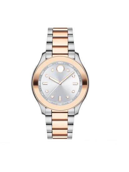 Bold Two-Tone Bracelet Watch