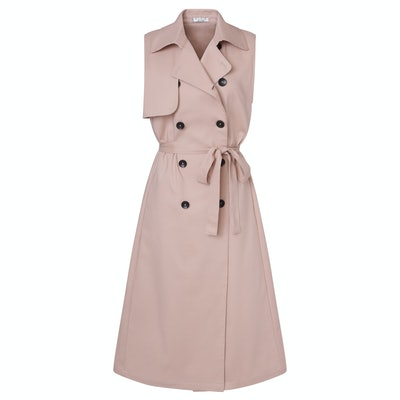 Sleeveless Trench in Blush