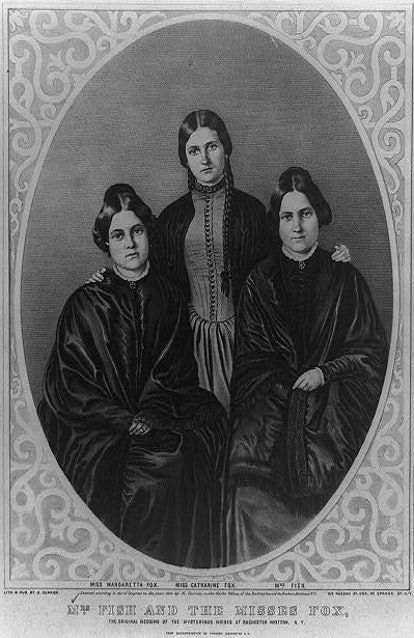 The Fox Sisters, spiritual mediums credited with early versions of the ouija board.