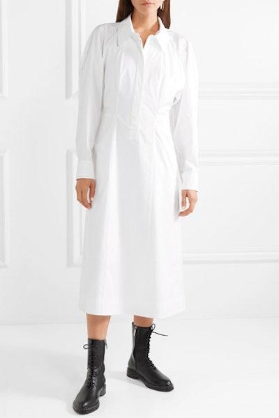Stretch-Cotton Poplin Shirt Dress