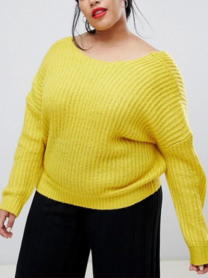 Sweater With Cross Over Back