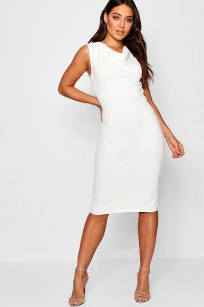 Cowl Neck Midi Dress