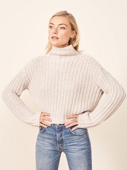 La Ligne X Reformation Never-Let-Me-Go Sweater in Cream