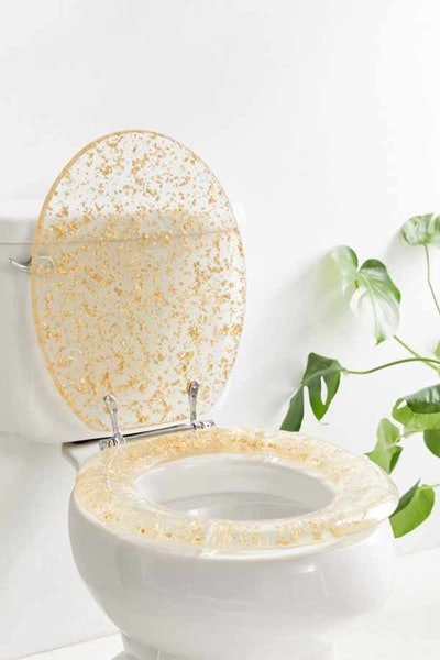 Gold-Flecked Toilet Seat