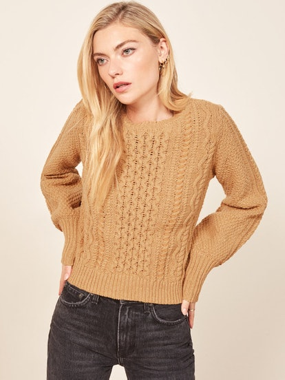 La Ligne X Reformation Sail-Away-With-Me Sweater in Camel