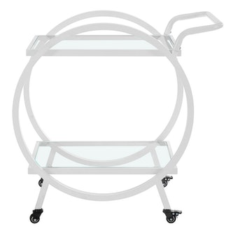 "Saracina Home 32"" Round Frame Serving/Bar Cart"