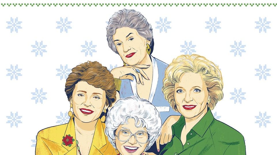 The New 'Golden Girls Twas The Night Before Christmas' Book Is Best Read With Cheesecake
