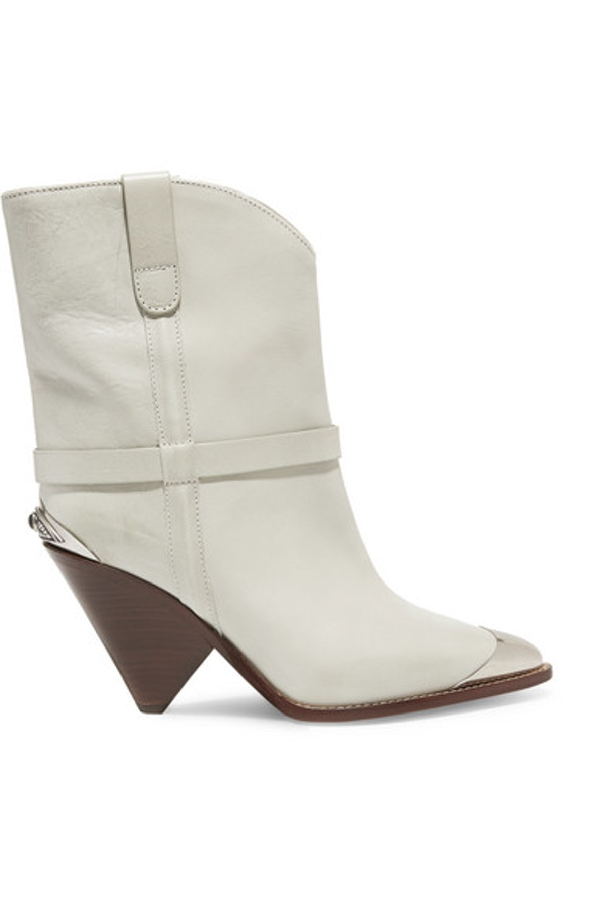 Lamsy Metal-Trimmed Leather Cowboy Boots