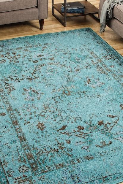 Oriental Weavers Antico Transitional Oriental Teal/Grey Area Rug
