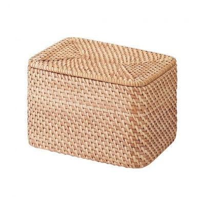 Rattan Rectangular Storage Box With Lid
