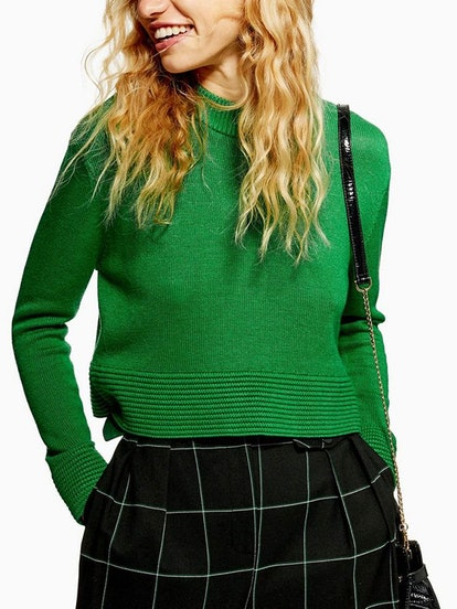 Ottoman Cropped Jumper With Cashmere