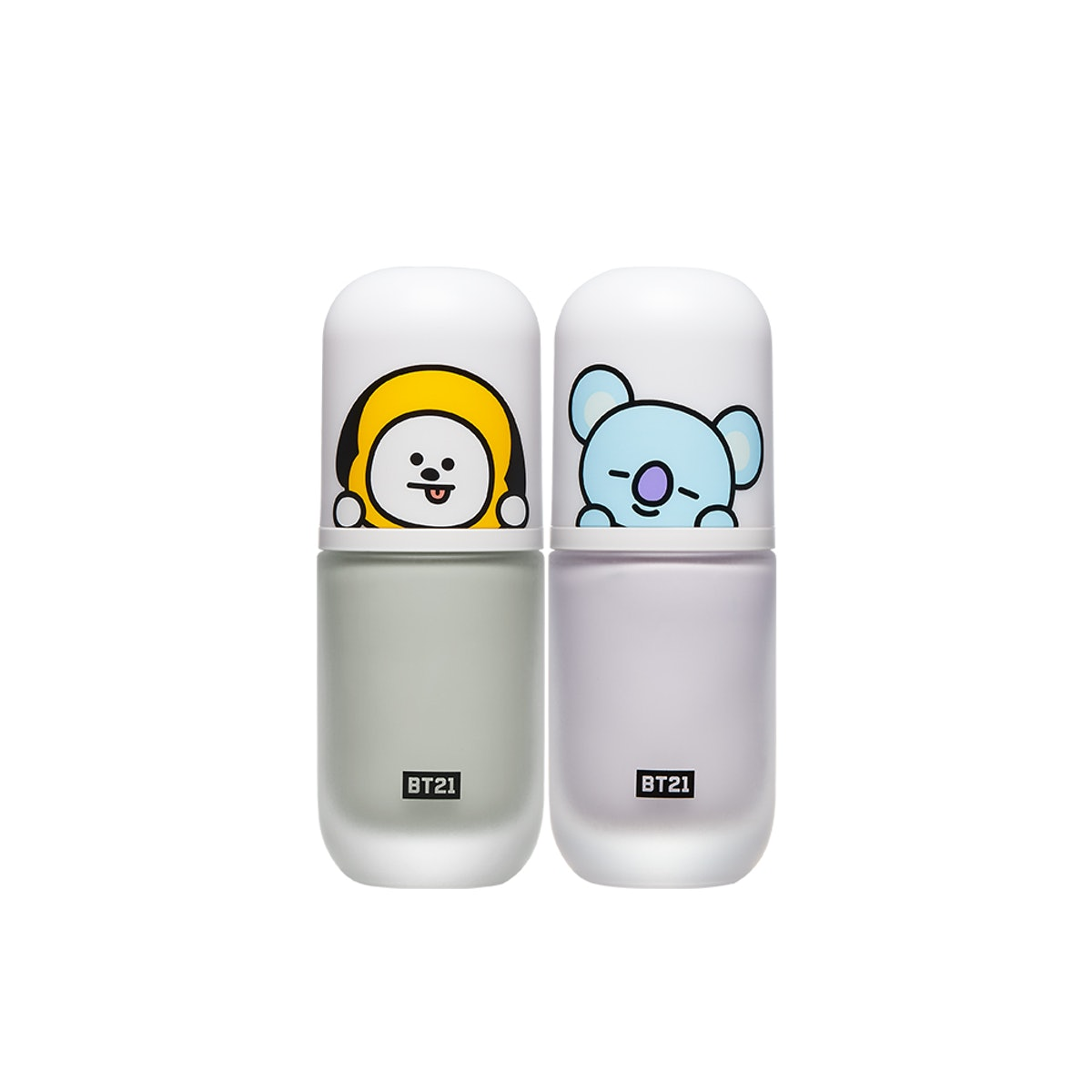 """BT21 Tinted Color Bases in """"Mint"""" and """"Lavender"""""""