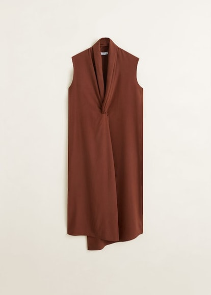 Draped Neckline Soft Dress