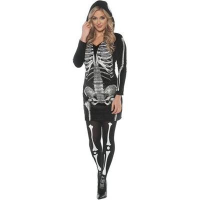 Skeletal Hoodie Dress Women's Adult Halloween Costume