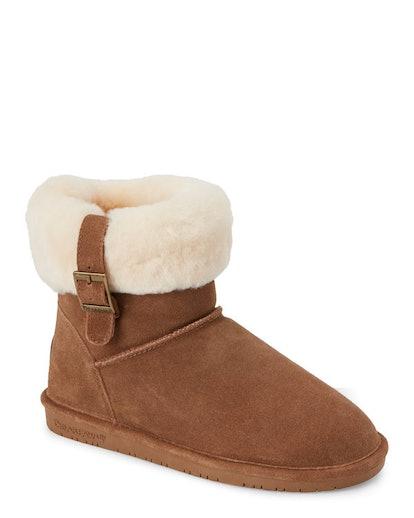 BEARPAW Hickory Abby Sheepskin Trim Boots