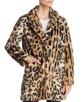 Apparis Margot Leopard-Print Faux-Fur Coat