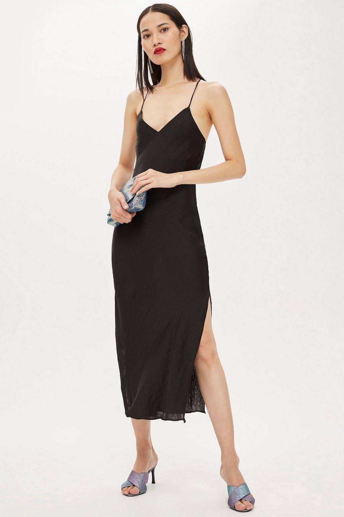 Plain Satin Slip Dress