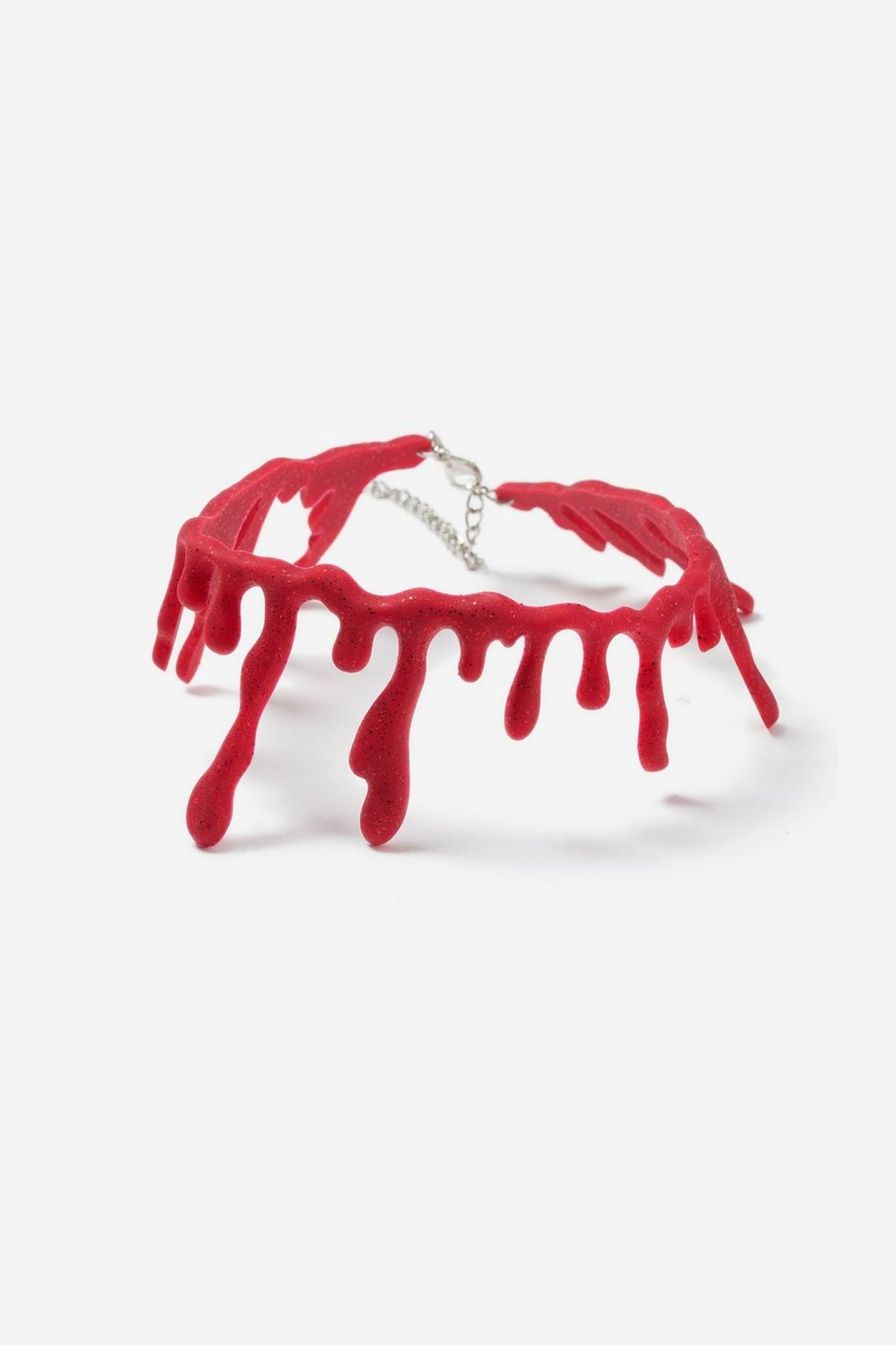 Glitter Blood Drip Halloween Choker Necklace