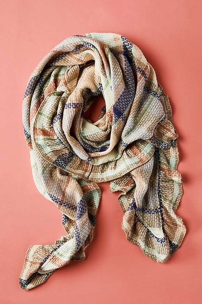 Annie Plaid Ruffled Scarf